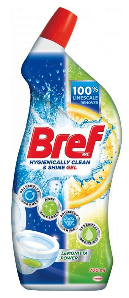 Bref Power Aktiv WC gel 700 ml Lemoni