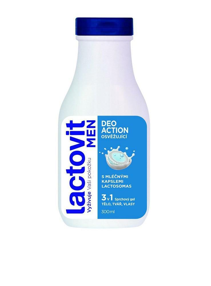Sprchový gel Lactovit MEN deoaction 3 v 1 300 ml