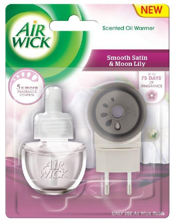 Airwick electric komplet Jemný satén&Lilie 19ml